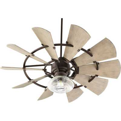 """52"""" OUTDOOR RUSTIC WINDMILL CEILING FAN - Shades of Light"""