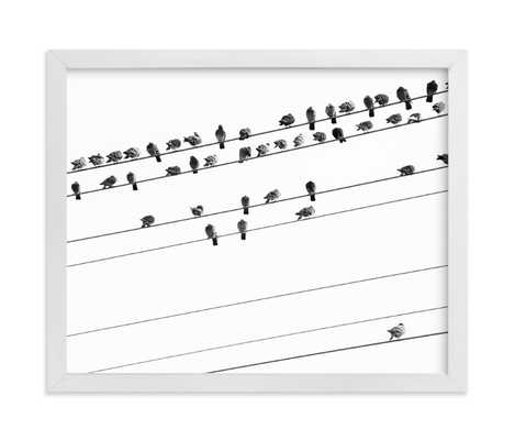 """birds in the meeting 1 - 10"""" x 8"""" - White Framed Art - Minted"""