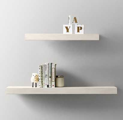 FLOATING WOOD SHELF - HEIRLOOM WHITE - RH Baby & Child