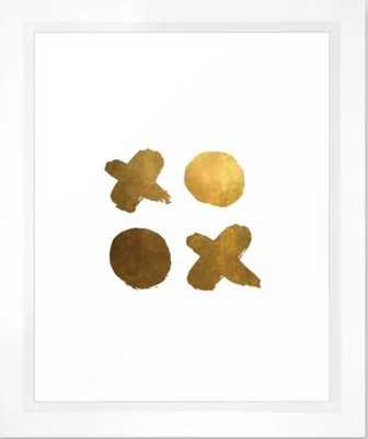 gold XOXO Framed Art Print - Society6