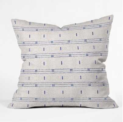 French Linen Stripe Outdoor pillow - 18'' x 18'' - Wander Print Co.