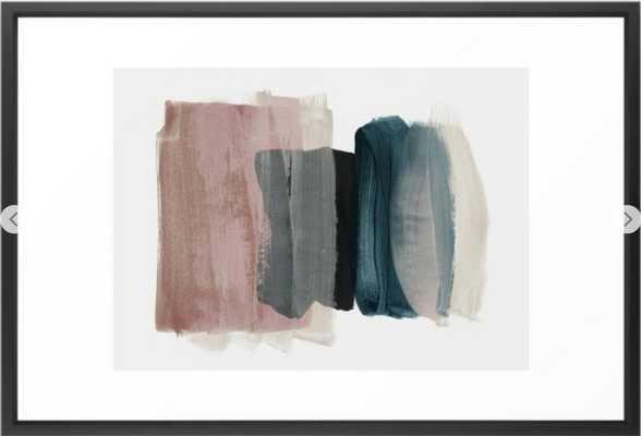 "minimalism 1 Framed Art Print - 26"" x 38"" Vector Black - Society6"