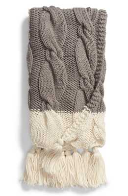 Cable Knit Tassel Throw Blanket - Nordstrom