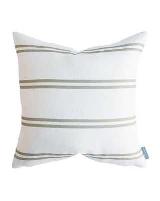 """FRANKLIN OLIVE STRIPE PILLOW WITHOUT INSERT, 20"""" x 20"""" - McGee & Co."""