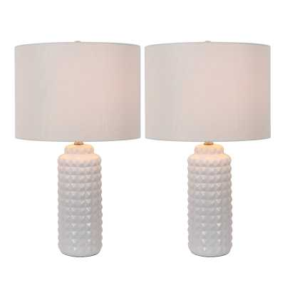 "Bernal 24"" Table Lamp -Set of 2- white - Wayfair"