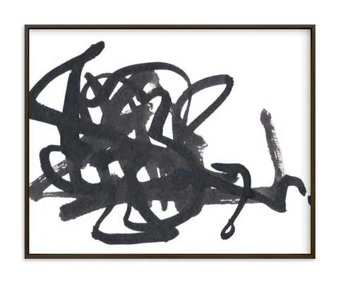 "Writer's Block - 20"" x 16"" - Matte Black Frame - Minted"