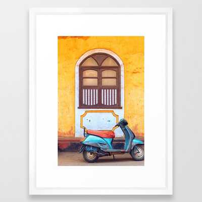 """Travel photography made in India. Framed Art Print- FRAME Vector White- SIZE Medium (gallery) - 20"""" X 26"""" ($85.99) - Society6"""