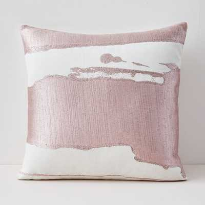 Ink Abstract Pillow Covers, Adobe rose - West Elm