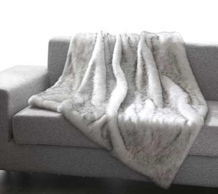 Thiele Luxury Tip Dye Faux Fur Throw grey mink - Wayfair