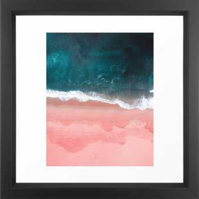 "Turquoise Sea Pastel Beach III Framed Art Print - 12"" x 12"" - Society6"