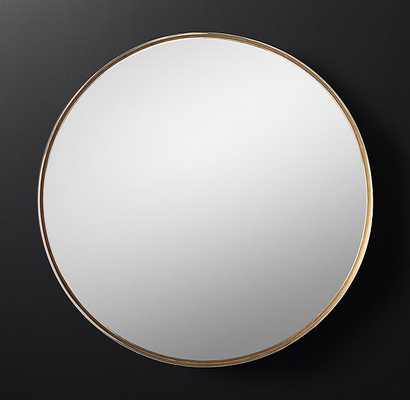 Varese Two-Toned Round Mirror - RH