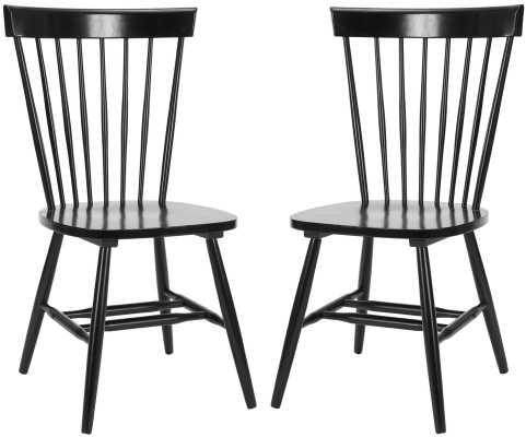 Saint-Pierre Solid Wood Dining Chair, ( set of 2 ) - Wayfair