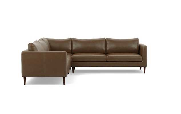 OWENS LEATHER Leather Corner Sectional Sofa - Interior Define