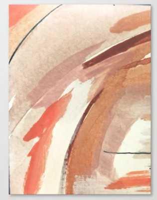 Aly: minimal | pinks | white | black | mixed media | abstract | ink | watercolor | wall art Canvas Print - Society6