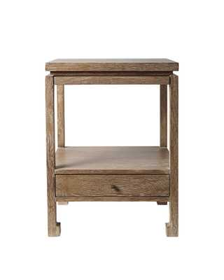 Reese Nightstand - Cerused Oak - Serena and Lily