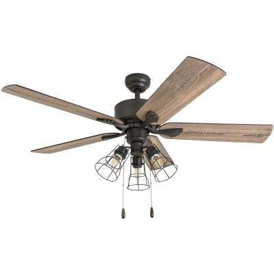 "52"" Rankins 5 Blade LED Ceiling Fan w/ Bluetooth Enable Remote - Wayfair"