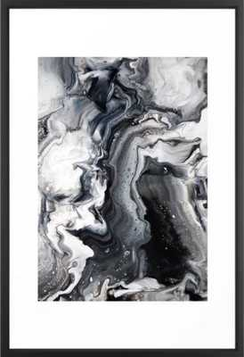 Marble B/W/G Framed Art Print - Society6
