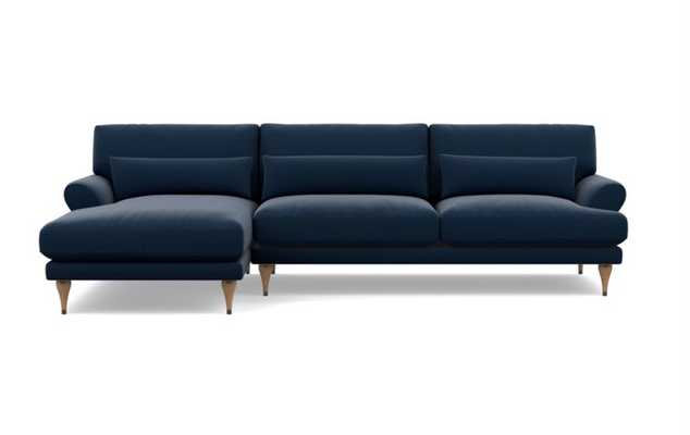 Maxwell Sectional Sofa with Left Chaise - Ocean - Interior Define