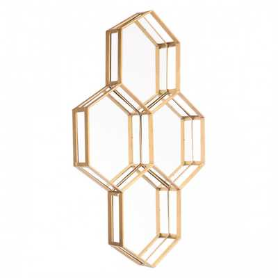 Honeycomb Mirror Gold - Zuri Studios
