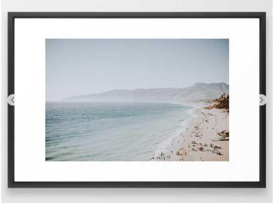 malibu coast ii / california summer Framed Art Print - Society6