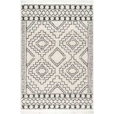 "Lydia Southwestern Cream/Charcoal Area Rug (10'2"" x 14') - Wayfair"