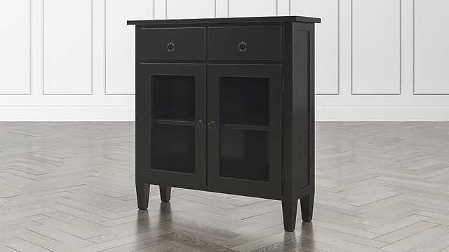 Stretto Bruno Black Entryway Cabinet - Crate and Barrel
