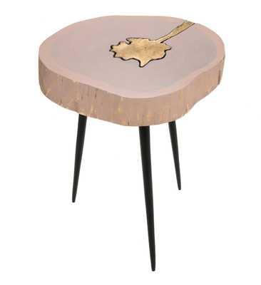 Kenzie Jane and Brass Side Table - Maren Home