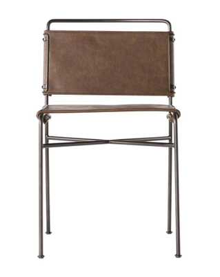 MOORE CHAIR, DISTRESSED BROWN - McGee & Co.