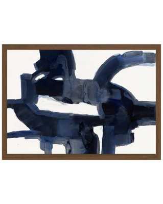 INDIGO ABSTRACT Framed Art - McGee & Co.