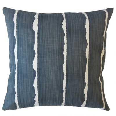 Panya Striped Pillow Carbon- 12 x 18 - Linen & Seam