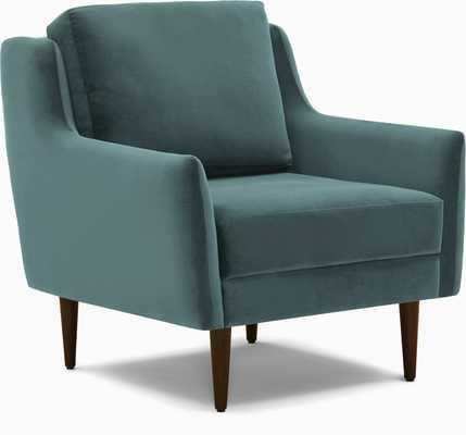 Gray Bell Mid Century Modern Chair - Dawson Slate - Medium - Joybird