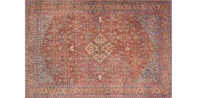 "Loren Collection LQ-06 RED / MULTI - 7'6"" x 9'6"" - Loma Threads"