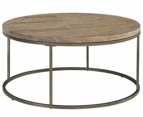 Casana Alana Weathered Acacia 38'' Round Coffee Table - Hayneedle