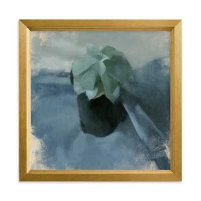 succulent in blue - 8'' x 8'' - Minted