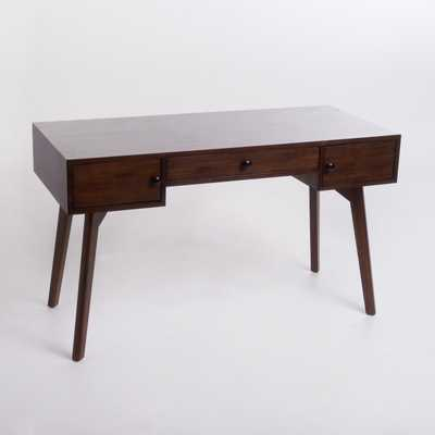 Quintus Acacia Wood Desk Walnut Brown - Christopher Knight Home - Target