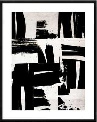 Wabi Sabi 16-02 - 28x36 - Black Wood Frame with mat - Artfully Walls