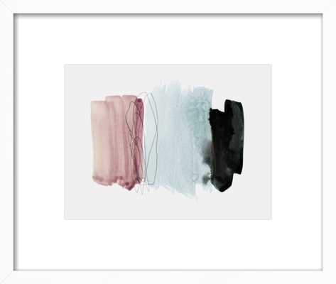 "minimalism 4 - 14""x11"" - Matte White Frame - Artfully Walls"