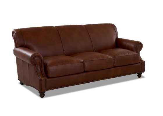 Landry Leather Sofa - Steamboat Chestnut - Wayfair
