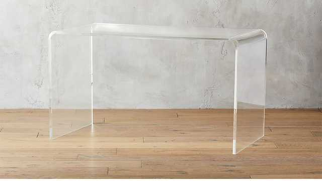 Peekaboo Acrylic Desk - CB2