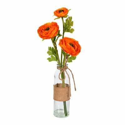 Artificial Camellia Floral Arrangement in Vase (Set of 2) - Wayfair