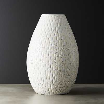 cleo ivory crackle vase - CB2