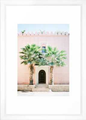 "Travel photography print ""Magical Marrakech"" photo art made in Morocco. Pastel colored. Framed Art Print - Vector White - 10x12 - Society6"