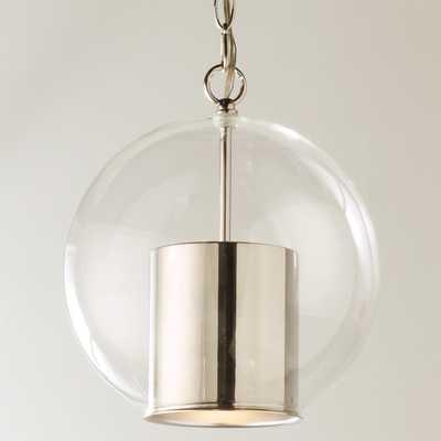 CAP AND GLOBE PENDANT - polished nickel - Shades of Light