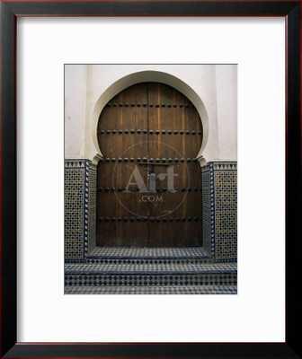 DOOR IN THE QUARTIER DES ANDALOUS, MEDINA, FES EL BALI, FEZ, MOROCCO, NORTH AFRICA, AFRICA - art.com