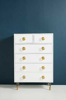 Lacquered Regency Six-Drawer Dresser - Anthropologie