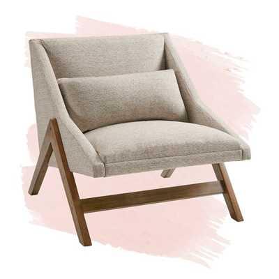 """Taupe Ashwood 24.75"""" Lounge Chair - Wayfair"""