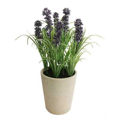 Faux Tabletop Lavender Floral Arrangement in Pot - Wayfair