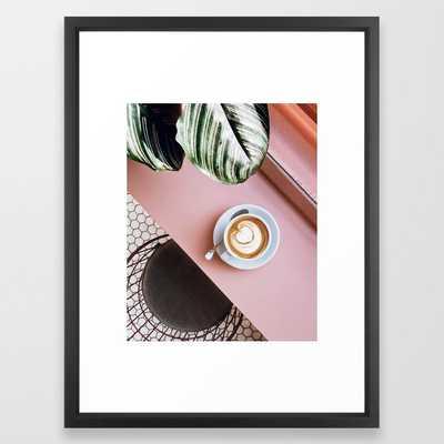 pink latte Framed Art Print - Society6