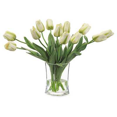 "27"" Simply Tulips in Vase, Faux - One Kings Lane"