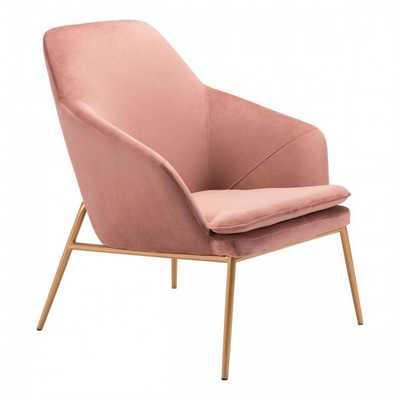 Debonair Arm Chair Pink Velvet - Zuri Studios